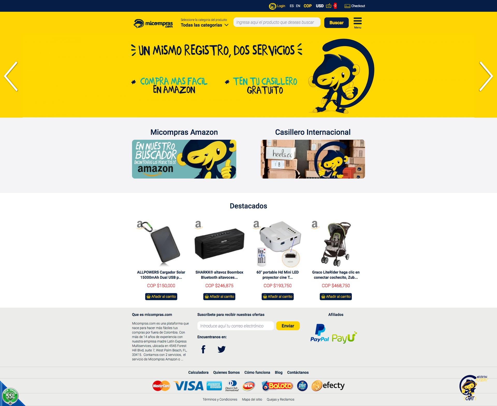 Micompras.com para traerte todo lo que quieras de Estados Unidos a Colombia